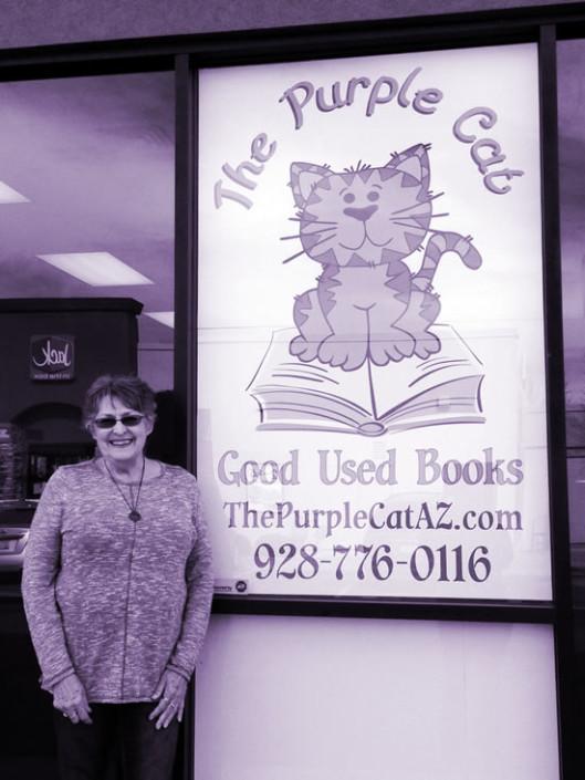 Shari Graham owner of the Purple Cat Used Bookstore